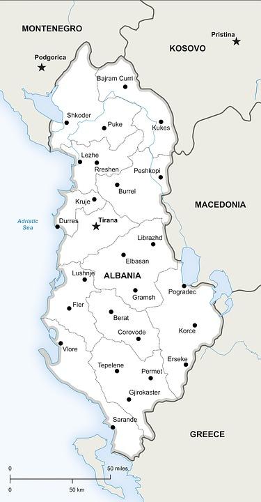 Albania Cartina Stradale.Guida Kruja Albania It