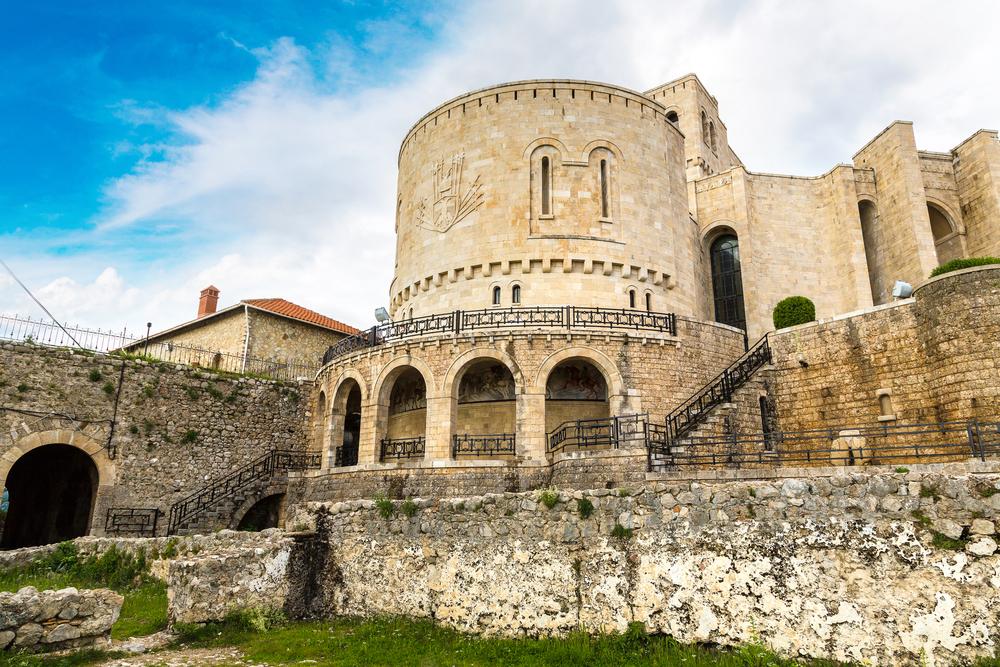 castello di Scanderbeg a Kruja in Albania