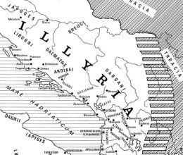 mappa antica di Illyria